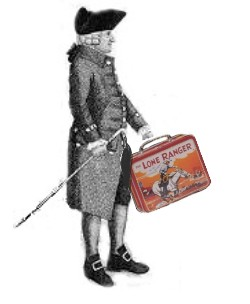 Adam Smith with lone ranger lunch box